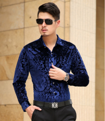 CAMISA SOCIAL MASCULINA SLIM FIT LUXO