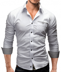Camisa social branca masculina