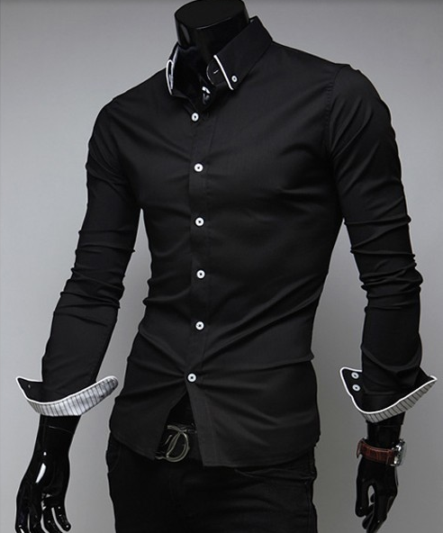 86a9b14040 Shopjmix.com - Camisa social preta e branca masculina